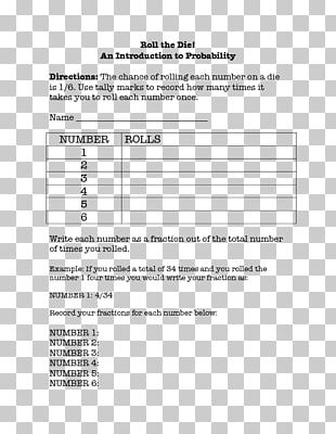Lesson Plan Student Probability Go Free Or Die PNG