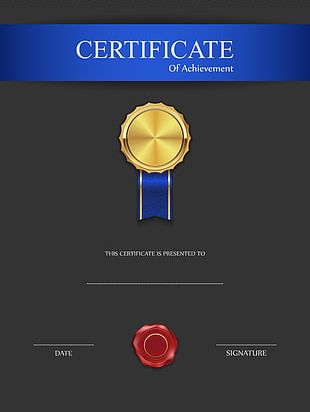 Black Blue Red Brown White Certificates PNG