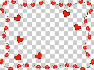 Valentine's Day Frames Heart Ornament PNG
