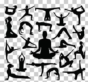 Silhouette Yoga Cdr PNG
