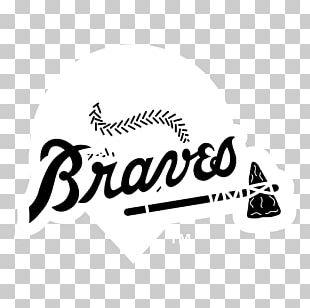 Logo Black And White Brand Atlanta Braves PNG