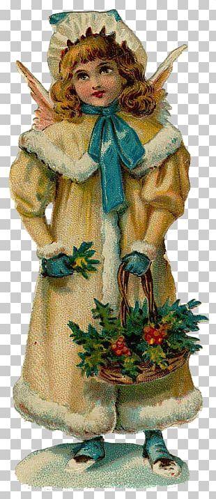 Victorian Era Bokmärke Paper Angel Christmas PNG