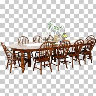 Table Dining Room Chair Matbord Furniture PNG