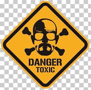 Walter White T-shirt Hazard Sticker PNG