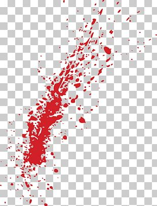 Spatter Blood Up PNG