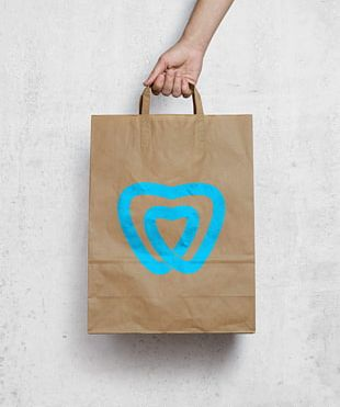 Mockup Paper Bag Graphic Design PNG