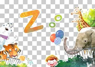Giraffe Lion Zoo Illustration PNG