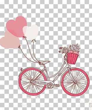 Bicycle Paper Cycling Balloon Wedding Invitation PNG