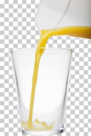 Orange Juice Harvey Wallbanger Glass PNG