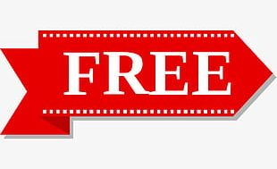 Red Free Tag PNG