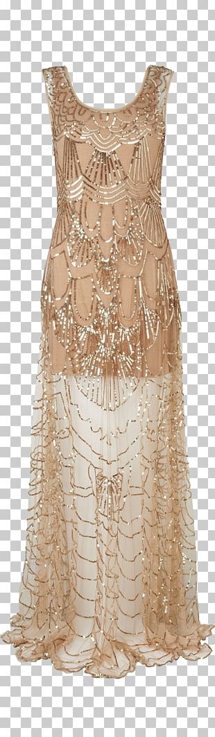1920s Flapper Dress Fashion Gown PNG