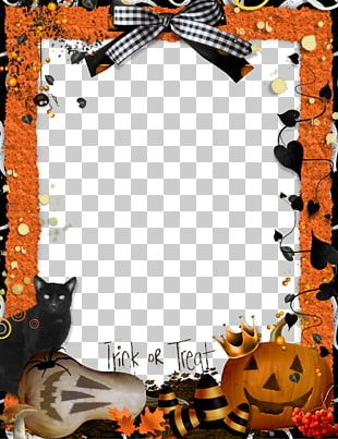 Halloween Frames Trick-or-treating Craft PNG