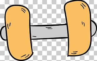 Dumbbell Physical Fitness Cartoon Weight Training PNG