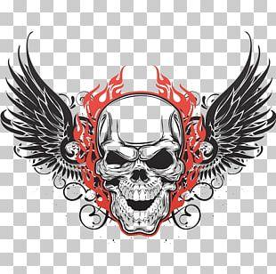Human Skull Symbolism Wing Tattoo Skull Art PNG