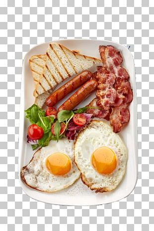 Sausage Breakfast Bacon Fried Egg Toast PNG