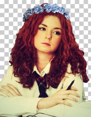Headpiece Red Hair Hair Coloring Bangs Long Hair PNG