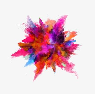 Ink-like Color Powder Explosion PNG
