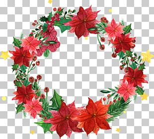 Christmas Wreath Garland Santa Claus PNG