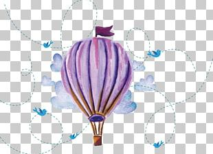 Watercolor Hand Painted Hot-air Balloon PNG