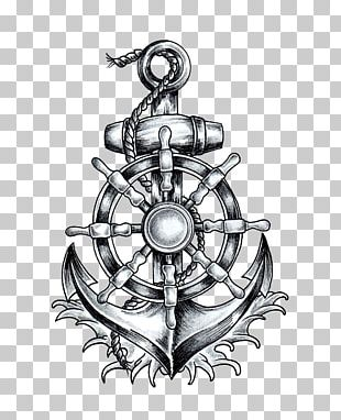 Anchor T-shirt Ship's Wheel Tattoo Drawing PNG