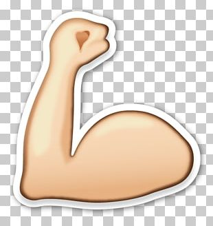 Emoji Pop! Sticker Biceps Smiley PNG