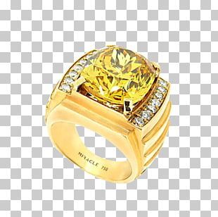 Jewellery Gemstone Gold Diamond Ring PNG