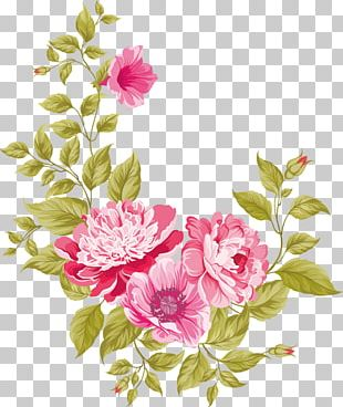 Wedding Invitation Pink Flowers Greeting Card PNG