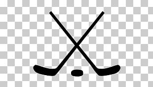 Crossed Ice Hockey Sticks And Puck PNG