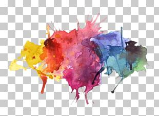 Water Colors Paint Splatter PNG