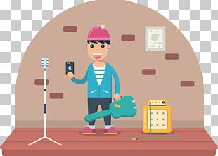 Microphone Singing Music Illustration PNG