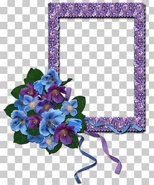 Cut Flowers Frames Floral Design Violet PNG