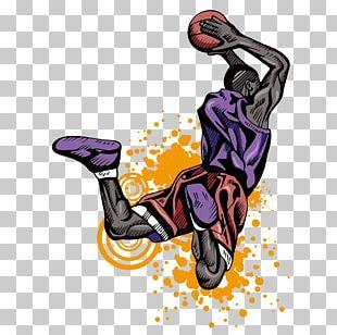 Basketball Player Slam Dunk Athlete PNG