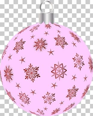 Christmas Ornament Pink M Christmas Day Pattern PNG