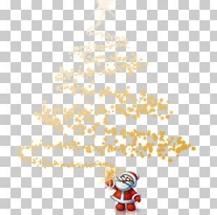 Santa Claus Christmas Tree Christmas Lights PNG