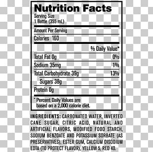 Fizzy Drinks Jones Soda Cola Nutrition Facts Label PNG