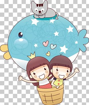 Flight Cartoon Balloon Illustration PNG
