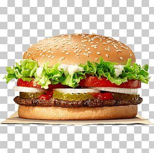 Whopper Hamburger Cheeseburger Chicken Sandwich Big King PNG