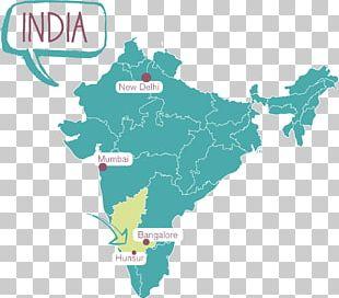 India Map Mapa Polityczna PNG