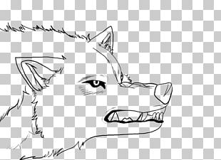Toboe Line Art Gray Wolf Animation Sketch PNG
