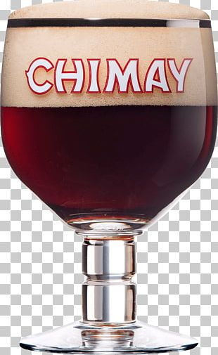 Large Glass Of Chimay Beer PNG