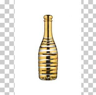 Champagne Wine Bottle Cristal Kosta Glasbruk PNG