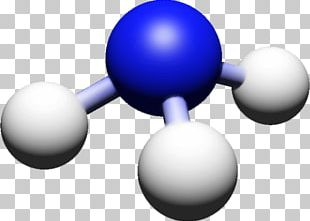 Ball-and-stick Model Ammonia Chemical Reaction Reagent PNG