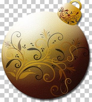 Borders And Frames Christmas Ornament Gold PNG