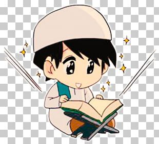 Quran Cartoon Reading Animation PNG