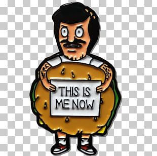 Hamburger T-shirt Lapel Pin Bob's PNG