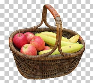 Apple Basket Banana Fruit Food PNG