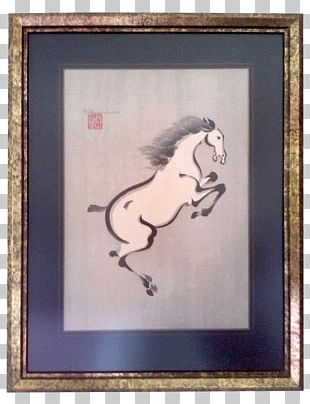 Ink Wash Painting Horse Art Drawing PNG