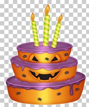 Birthday Cake Halloween PNG