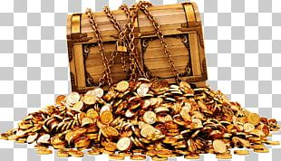 Gold Coin Buried Treasure PNG