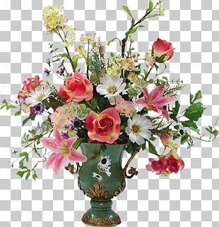 Rose Floral Design Vase Flower Bouquet Cut Flowers PNG